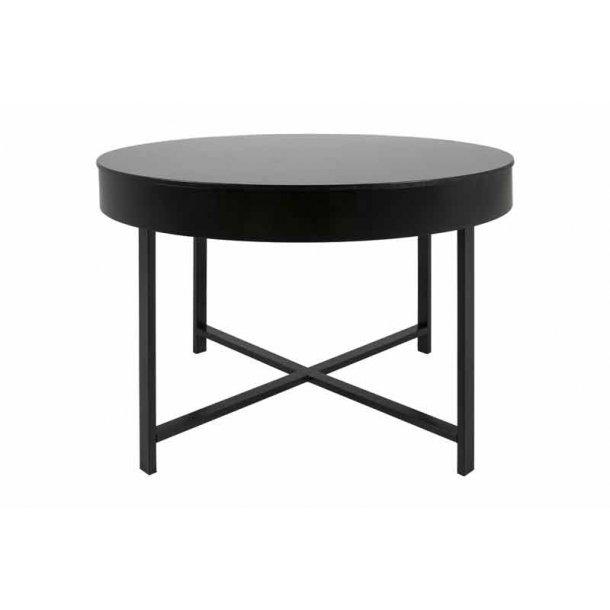 Molly sofabord - sort - Ø.69 cm
