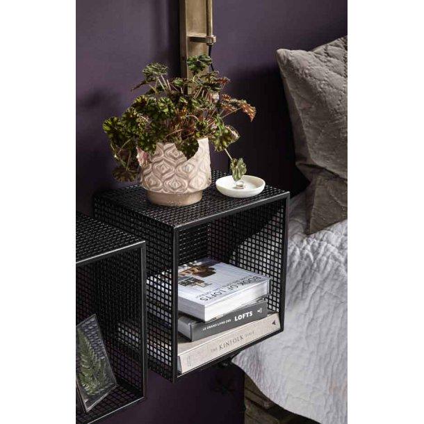WIRE box til væg - sort metal - 2 stk.