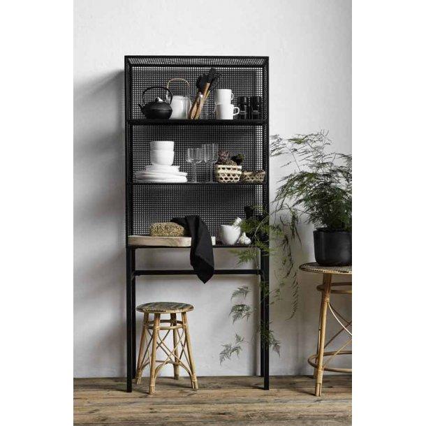 WIRE rack - sort - 175 cm
