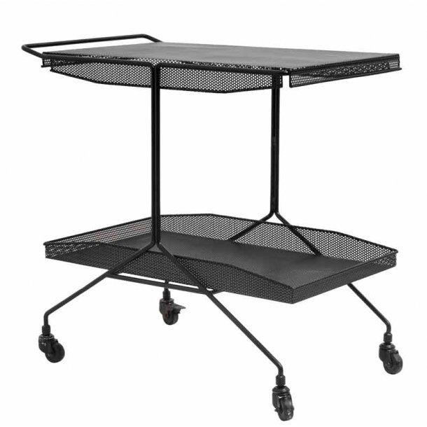 Mega Bakkebord med 2 bakker sort metal med hjul - Nordal - Højgaard TY08