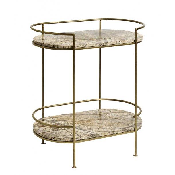 Ovalt bakkebord / sidebord - JUNGLE - metalstel