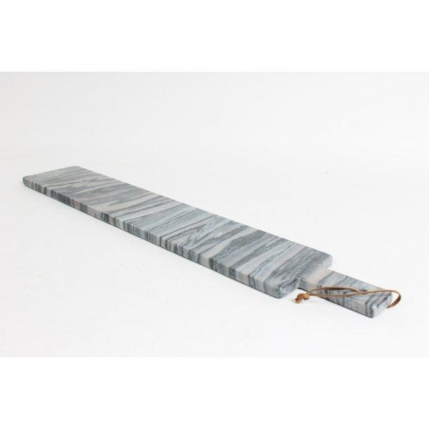 Skærebræt Xl slim grå marmor - 70 cm