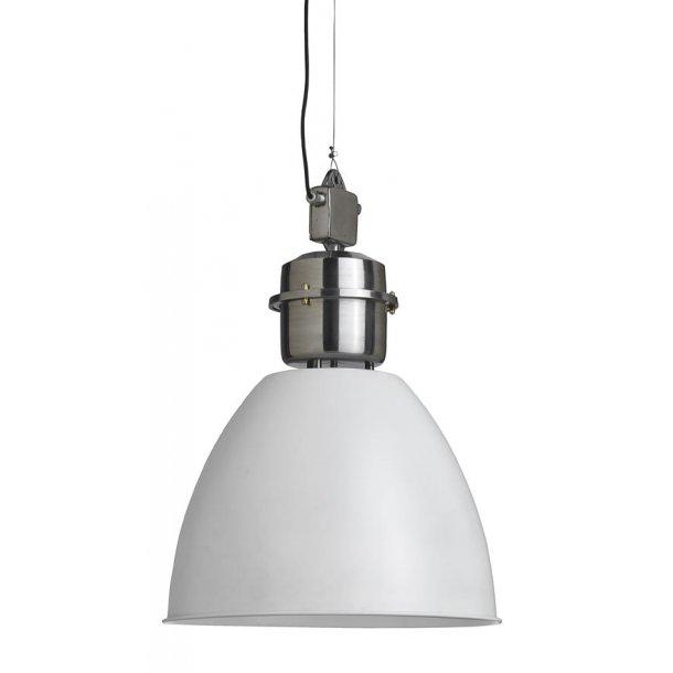 Stor industrilampe hvid- Ø.49 cm