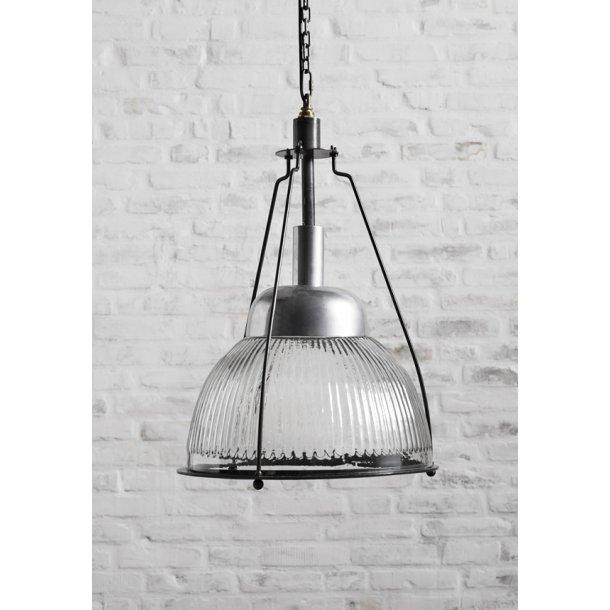 Hængelampe - rillet glas - Ø 31 cm
