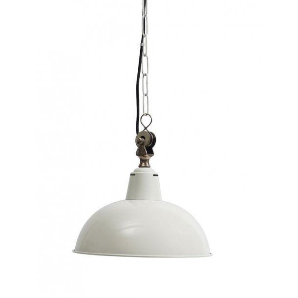 Hvid hængelampe dia. 31 cm