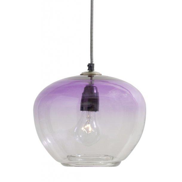 Bubble glaslampe - purple - ø.23 cm