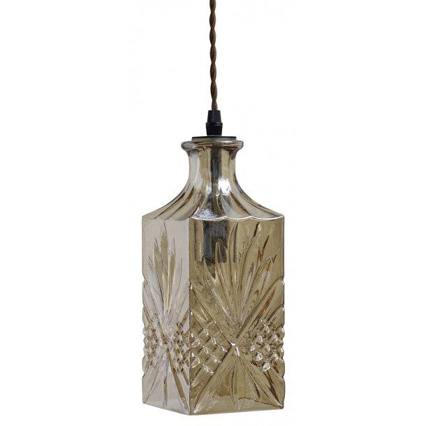 Flacon lampe square - coffee color