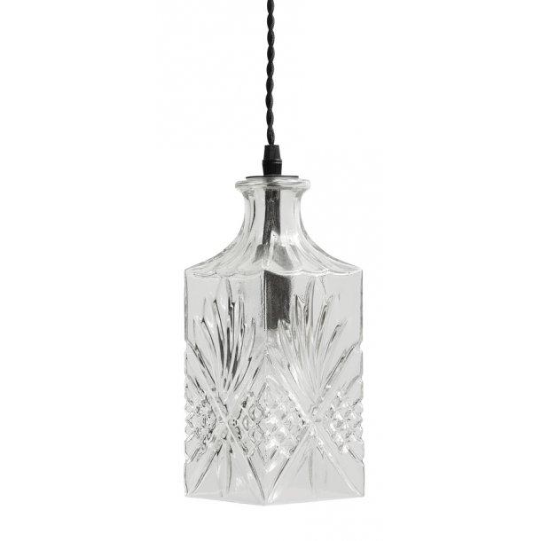 Flacon lampe square - clear