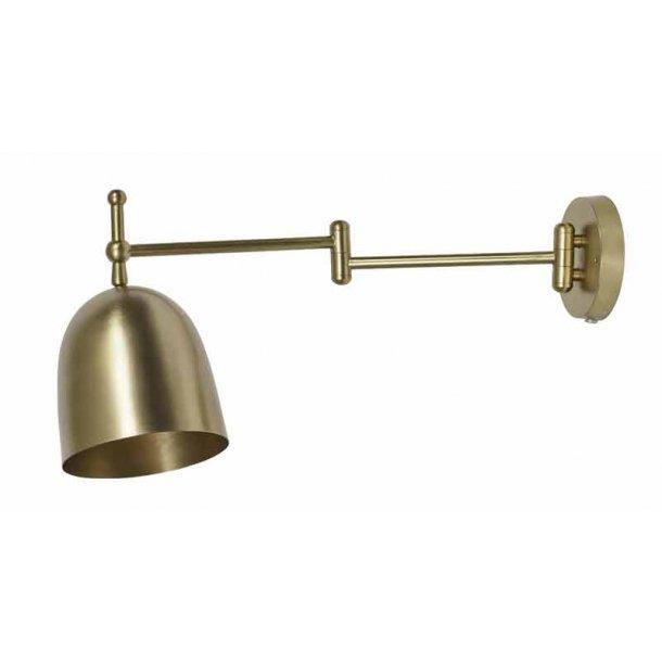 Væglampe messing metal - lang arm