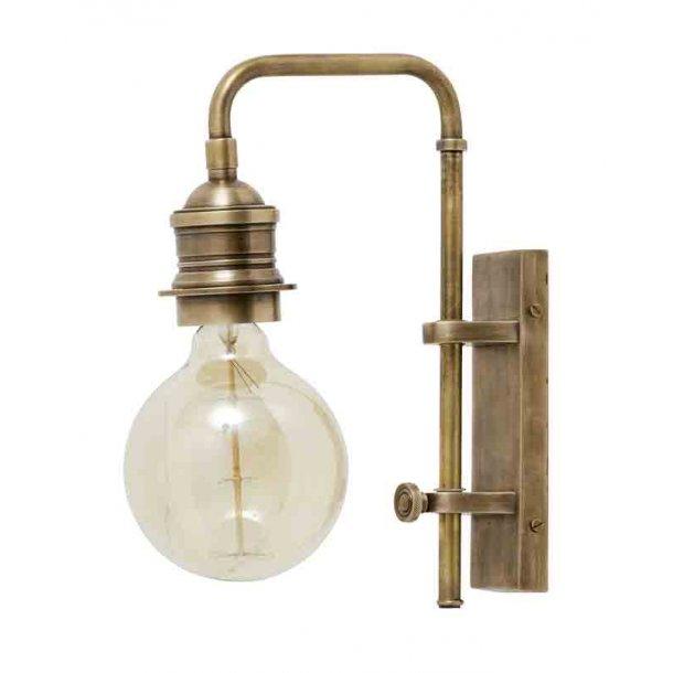 Væglampe til deko pære - messing - small