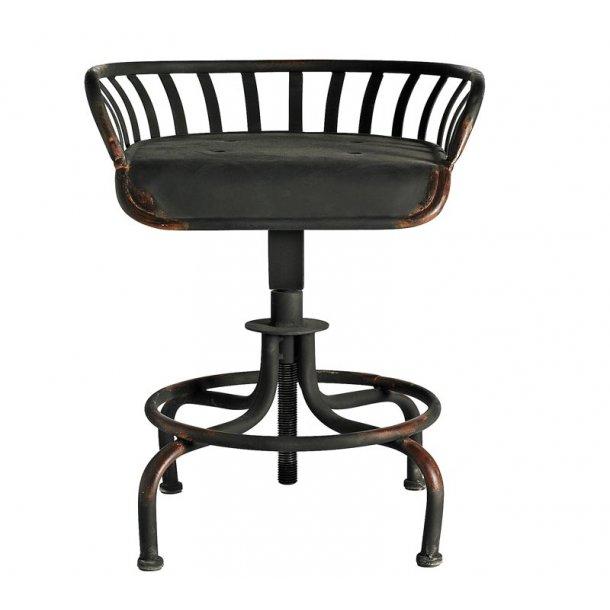 Jern stol - tractor chair - med justerbar højde