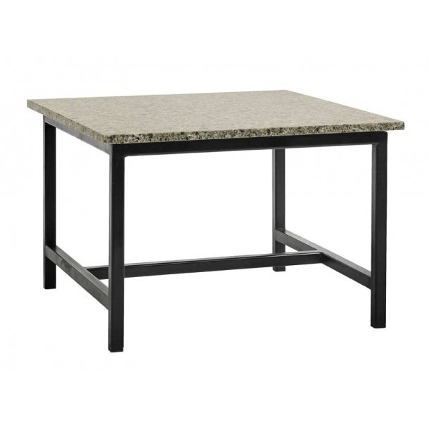 Alvorlig Sofabord med granit bordplade - 60x60 cm - NORDAL DE66