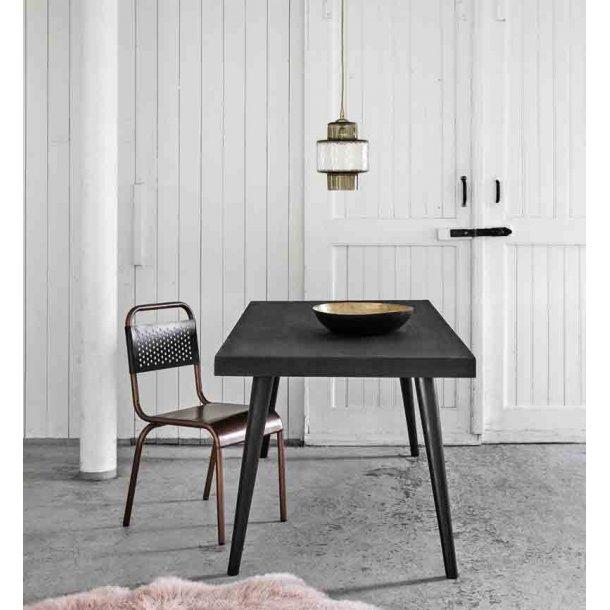 Sort spisebord med beton belægning fra Nordal