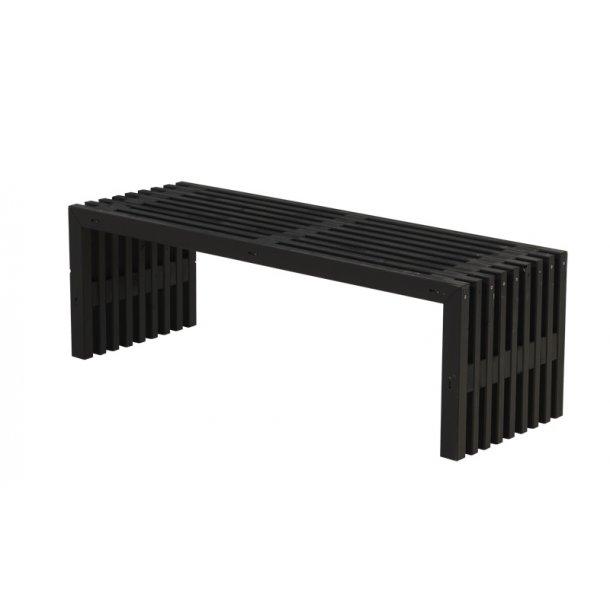 Rustik Trallebænk design - sort - 138cm