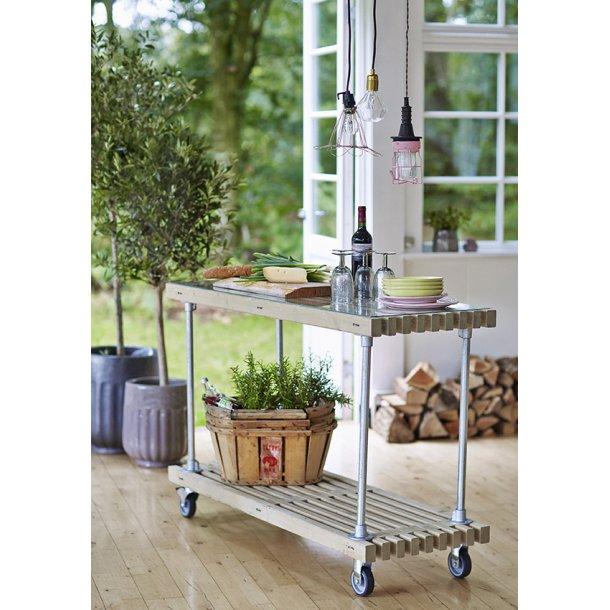 Trallebord med hjul - trallemøbler fra PLUS