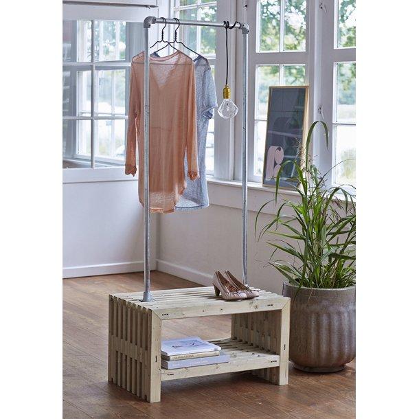 Tralle garderobe - drivtømmerfv. - B. 80 cm
