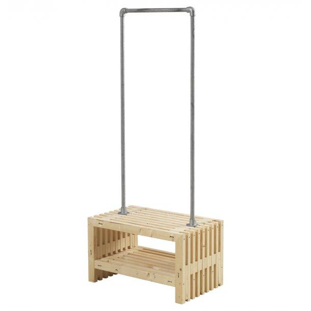 Tralle garderobe - ubehandlet - B. 80 cm