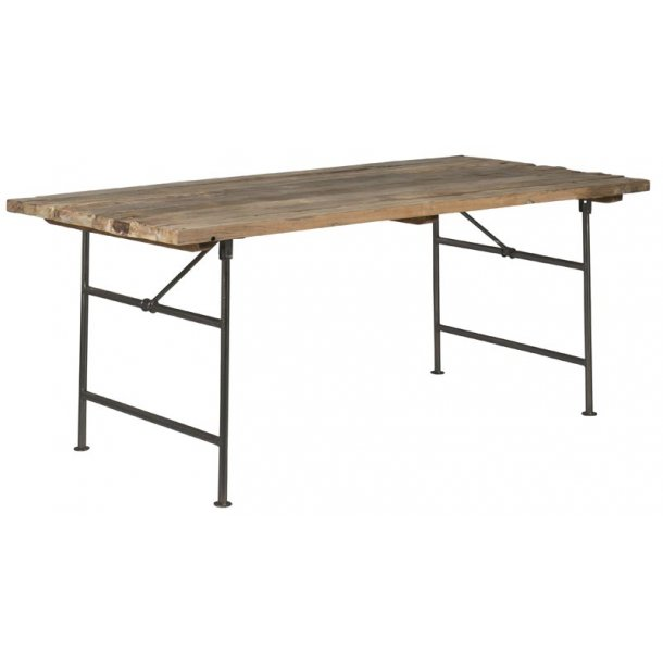 Langbord træ unika med metalstel