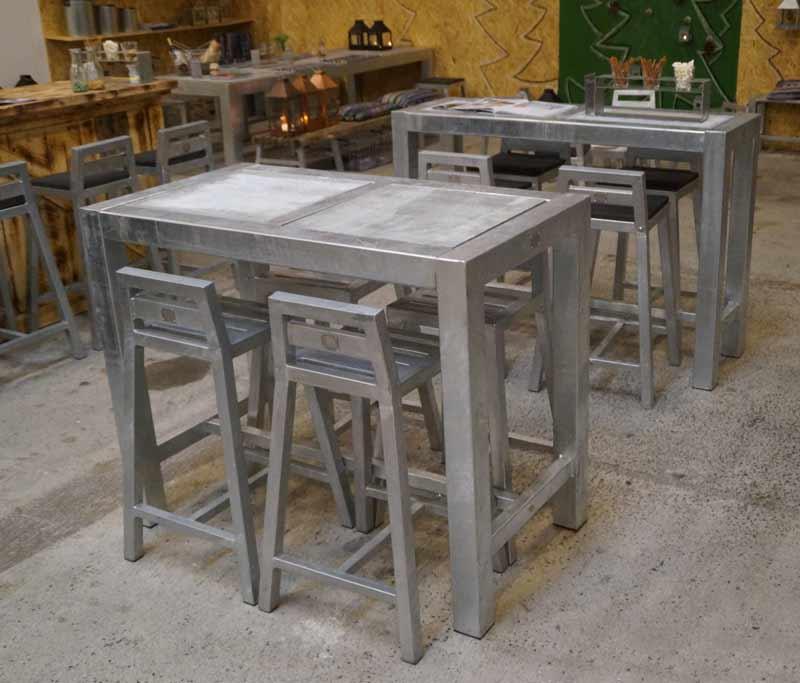 Image of   Barbord galvaniseret - H. 100cm med hjul