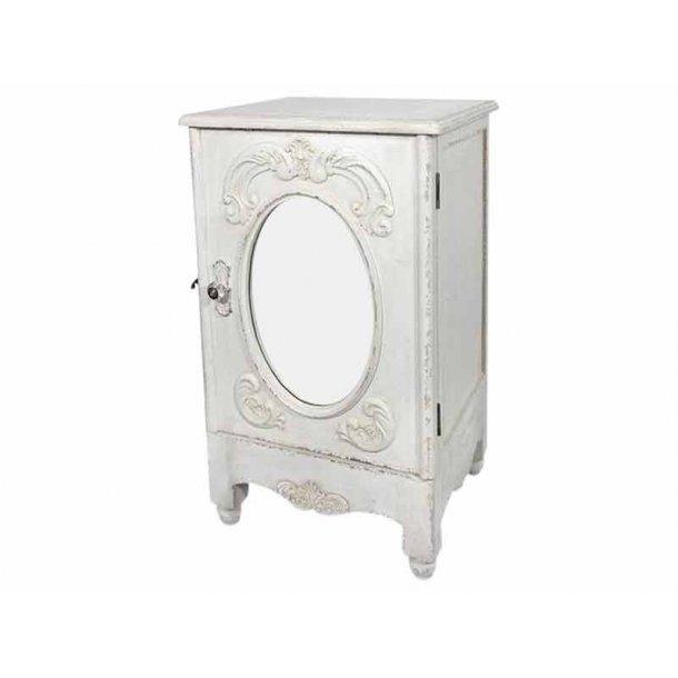 Antique hvid skab med spejl og fransk deko