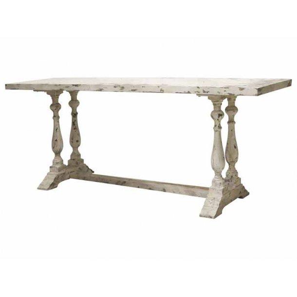 Fransk anrettebord / konsolbord antik hvid - længde 215 cm