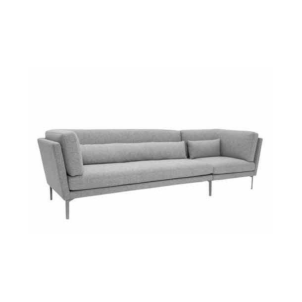 Rox sofa - lys grå uld - 293 cm