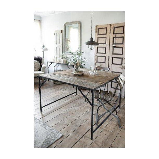 Efterstræbte Klapbord - 120 x 120 cm - Træ/metal - Jeanne d` Arc Living TW-26