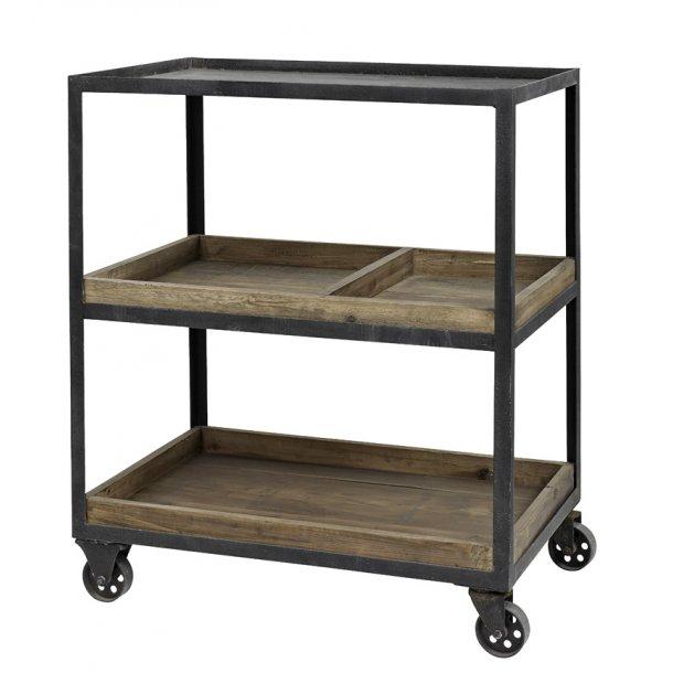 Rullebord ALE - i jern med 2 træbakker