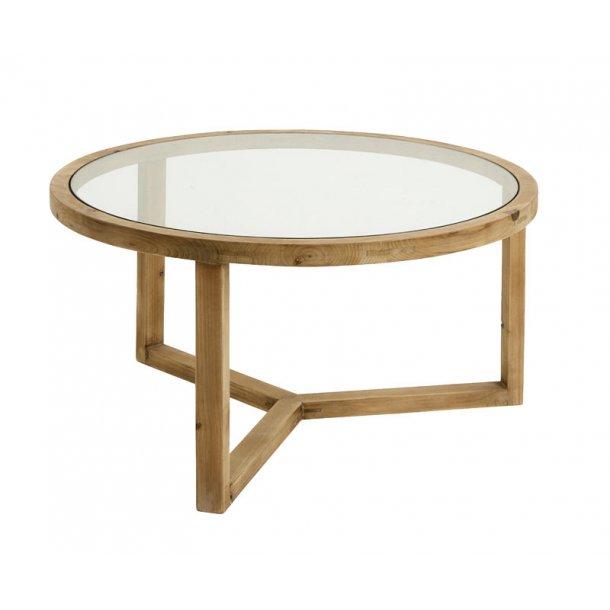 NATURAL - sofabord med træ / glas - natur