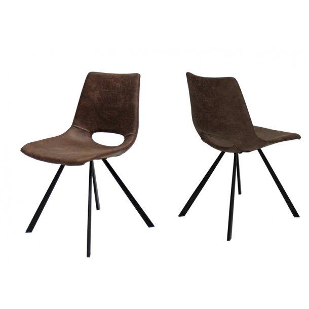 Spisebords stol - brun mikrofiber