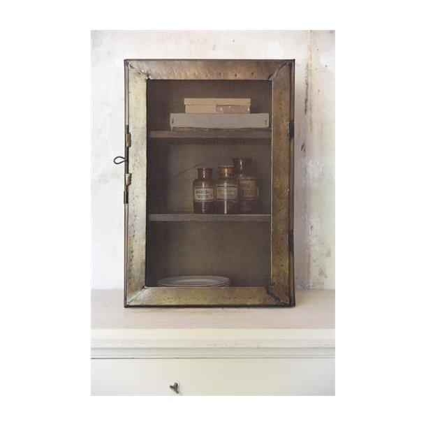 Modernistisk Lille skab - H: 66 cm - Mørk antik look - Jeanne d` Arc Living DD06