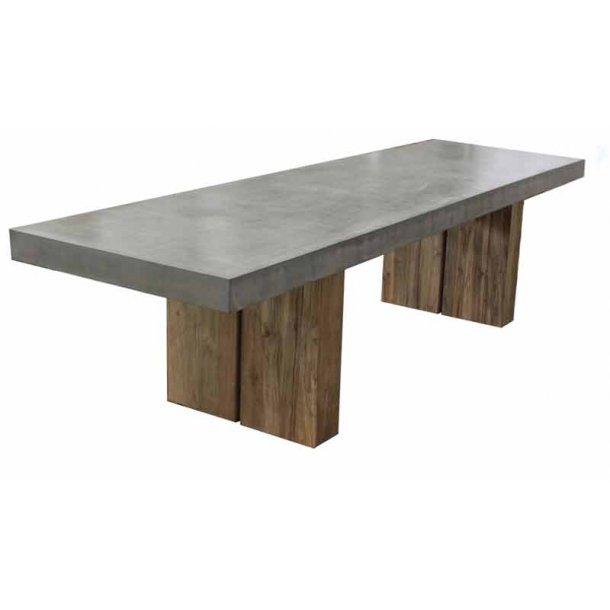 Urban spisebord - teak / fibercement - til ude og inde