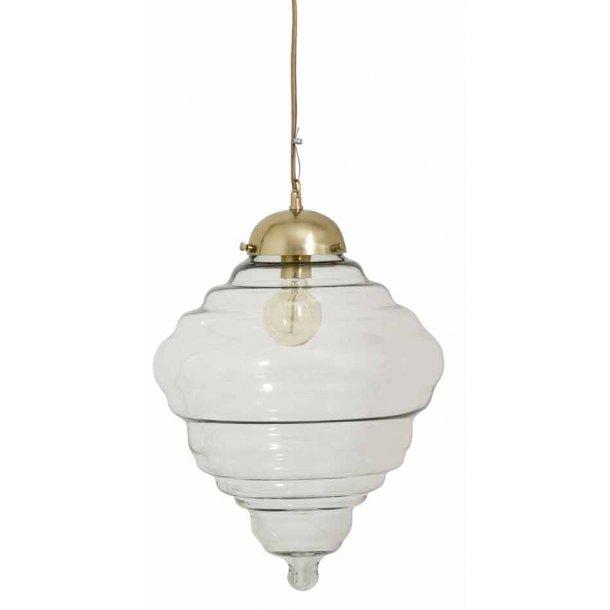 Tornado hængelampe - klar glas