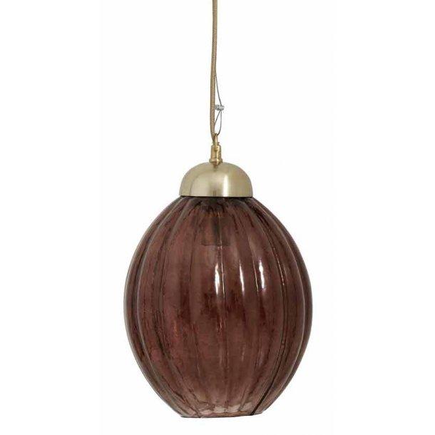 PUMPKIN hængelampe - bordeaux glas