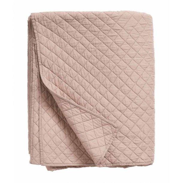 Nordal sengetæppe quilt - støvet rosa - 220 x270 cm