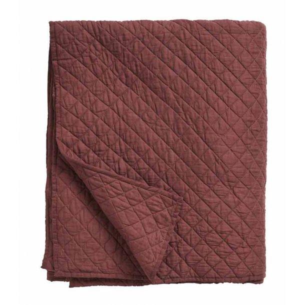 Nordal sengetæppe quilt - bordeaux- 220 x270 cm