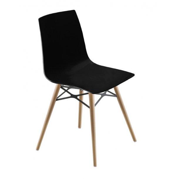 spisebordsstol X-treme plast / træ - sort
