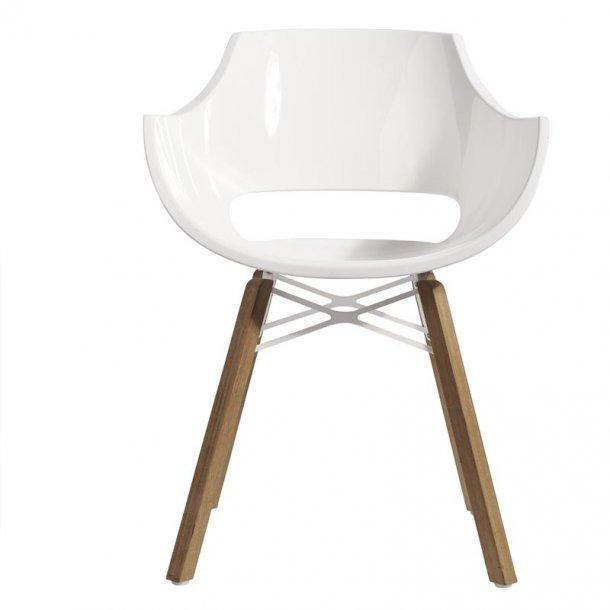 Stol Opal Iroco hvid - inde / ude