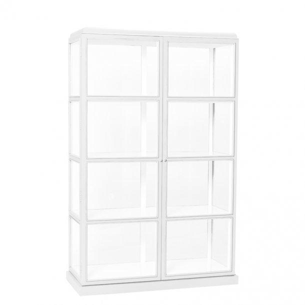 Vitrineskab med glas - hvid