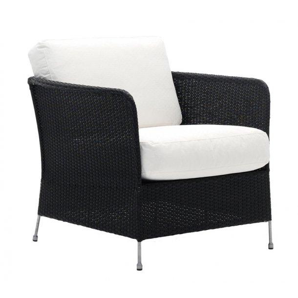 Lounge stol Orion sort - med hynde