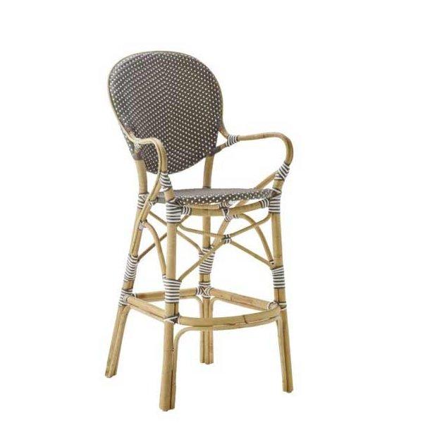 Isabell barstol med armlæn - cappucino