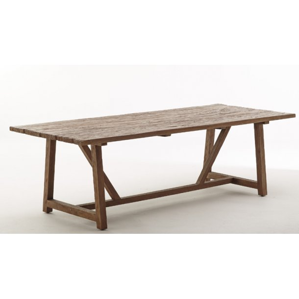 Teak spisebord / langbord 240 cm - genbrugsteak