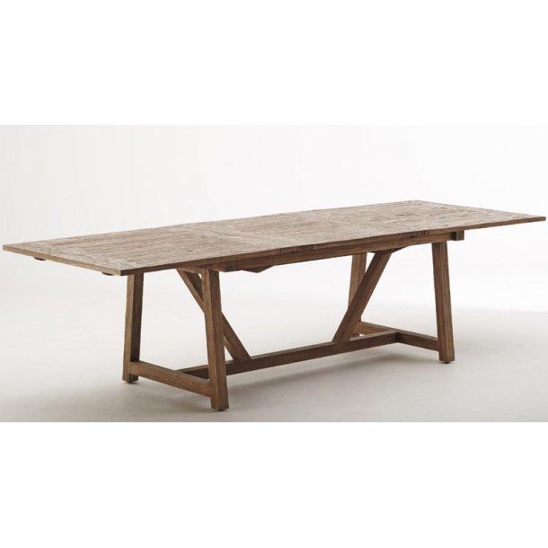 Spisebord / langbord teak med udtræk - 200 -280 cm
