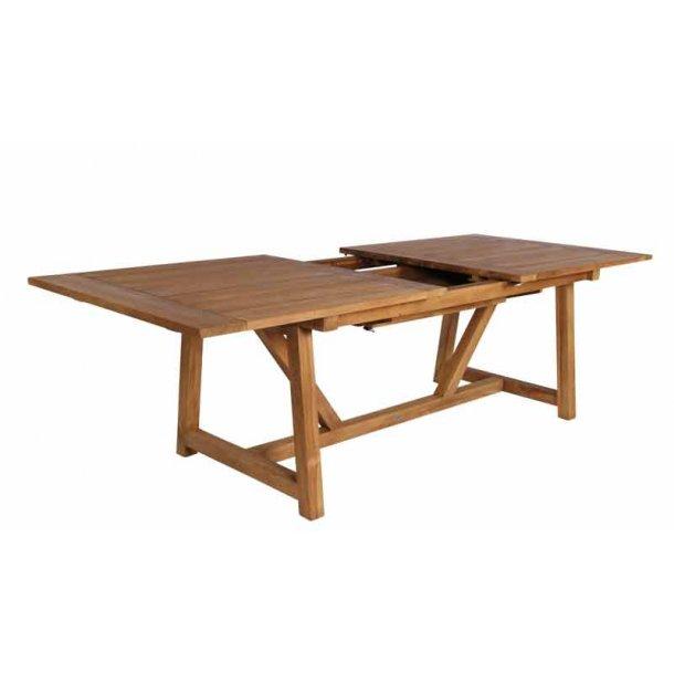 Havebord teak træ - udtræksbord 280 cm
