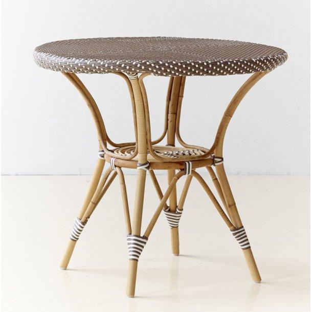 Cafe bord Rattan - cappuccino - Ø80 cm