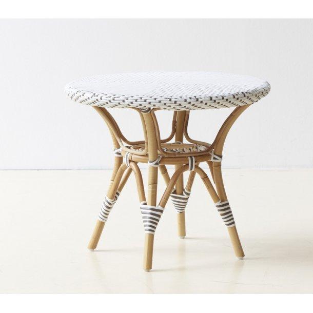 Side bord Rattan - hvid - ø. 60 cm -Danielle