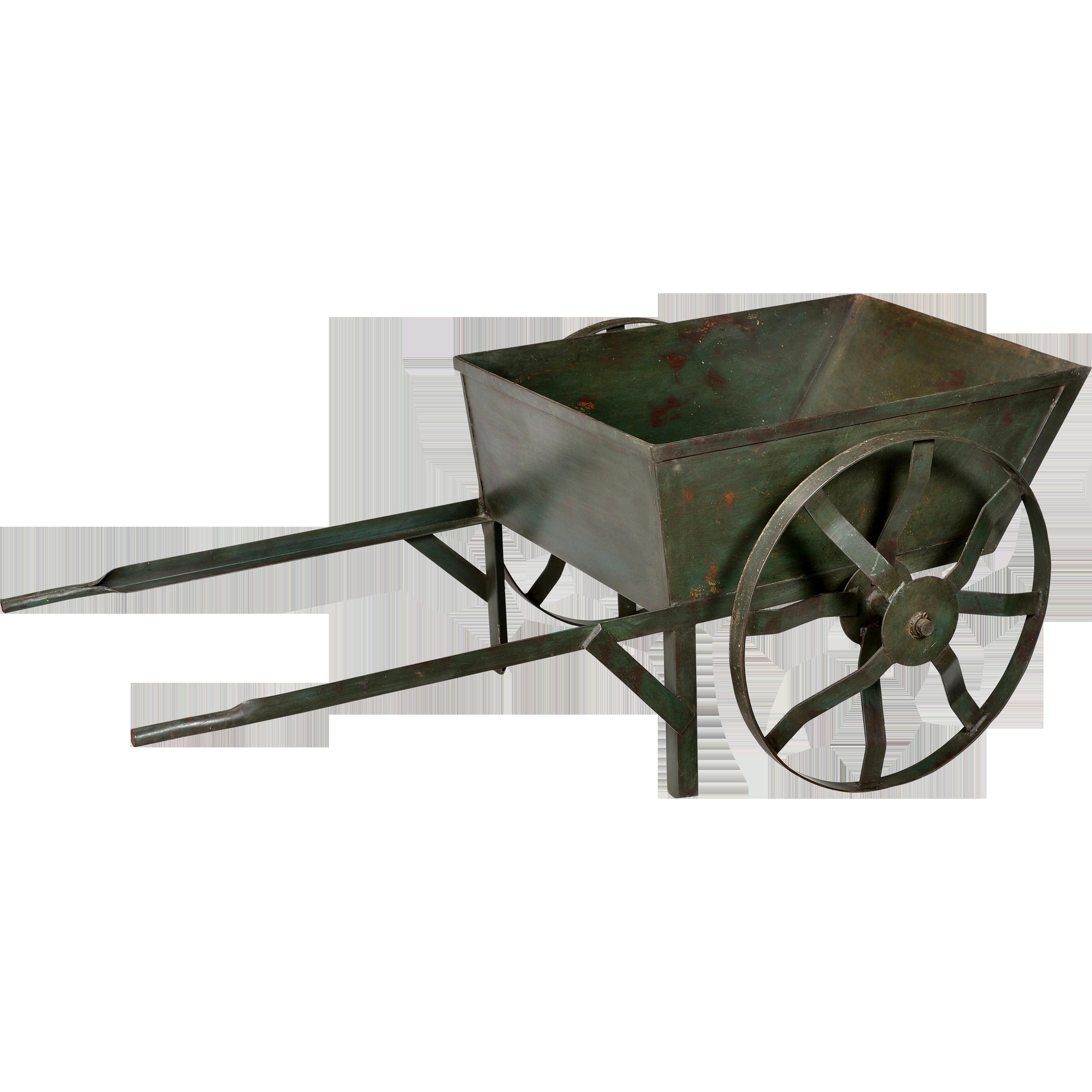 Billede af Trademark Living Trækvogn i jern - mørkgrøn