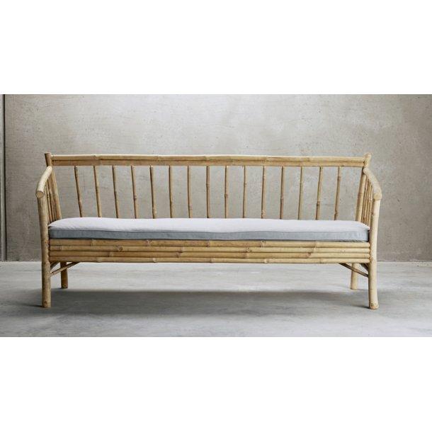 Lounge sofa bambus - med grå hynde