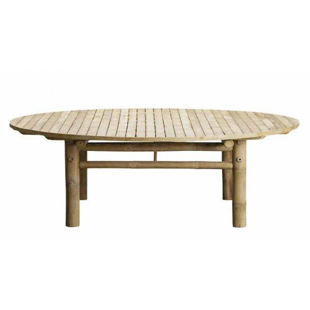 Rund lounge bord bambus - Ø. 140 cm - Tine K.