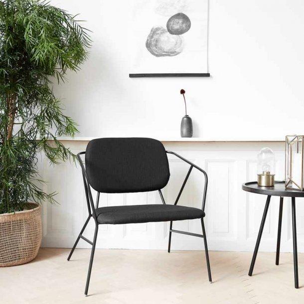 House Doctor - lounge stol - Klever - sort